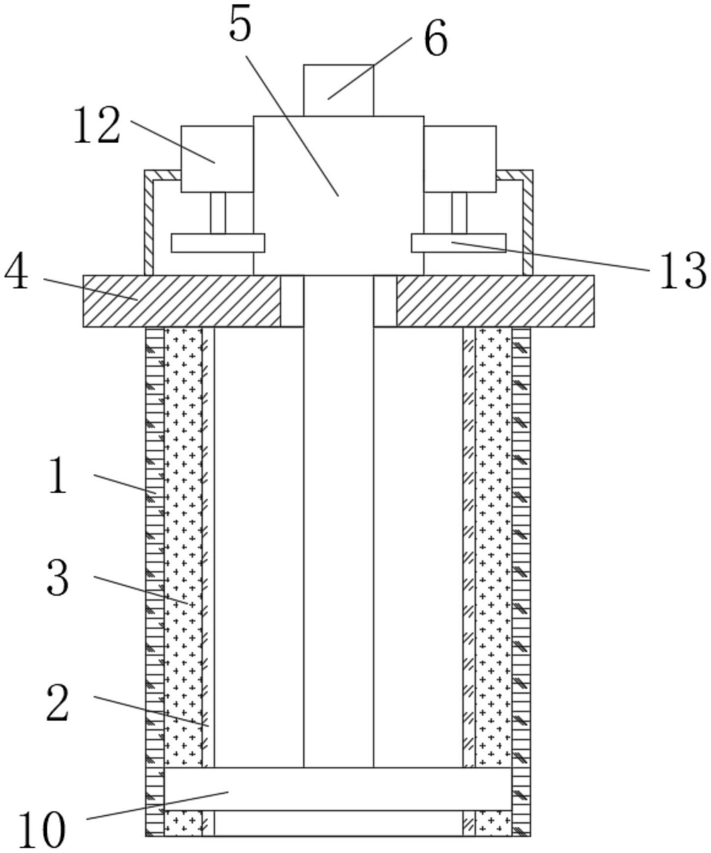 一种用于切割PE管的精轧螺纹钢结构