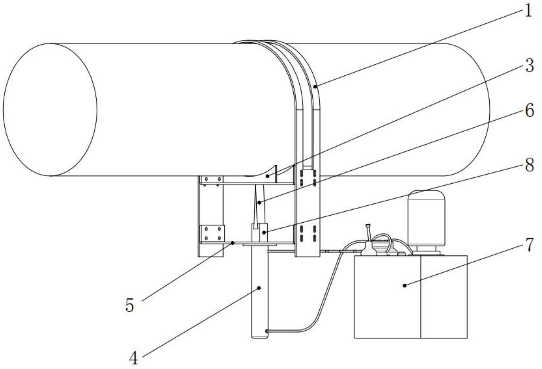 一种应用于悬索桥主缆的液压开缆装置