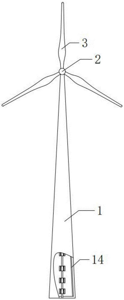 一种方便排线的风力发电塔架
