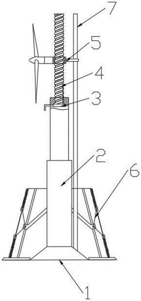 一种方便维修的风力发电塔架