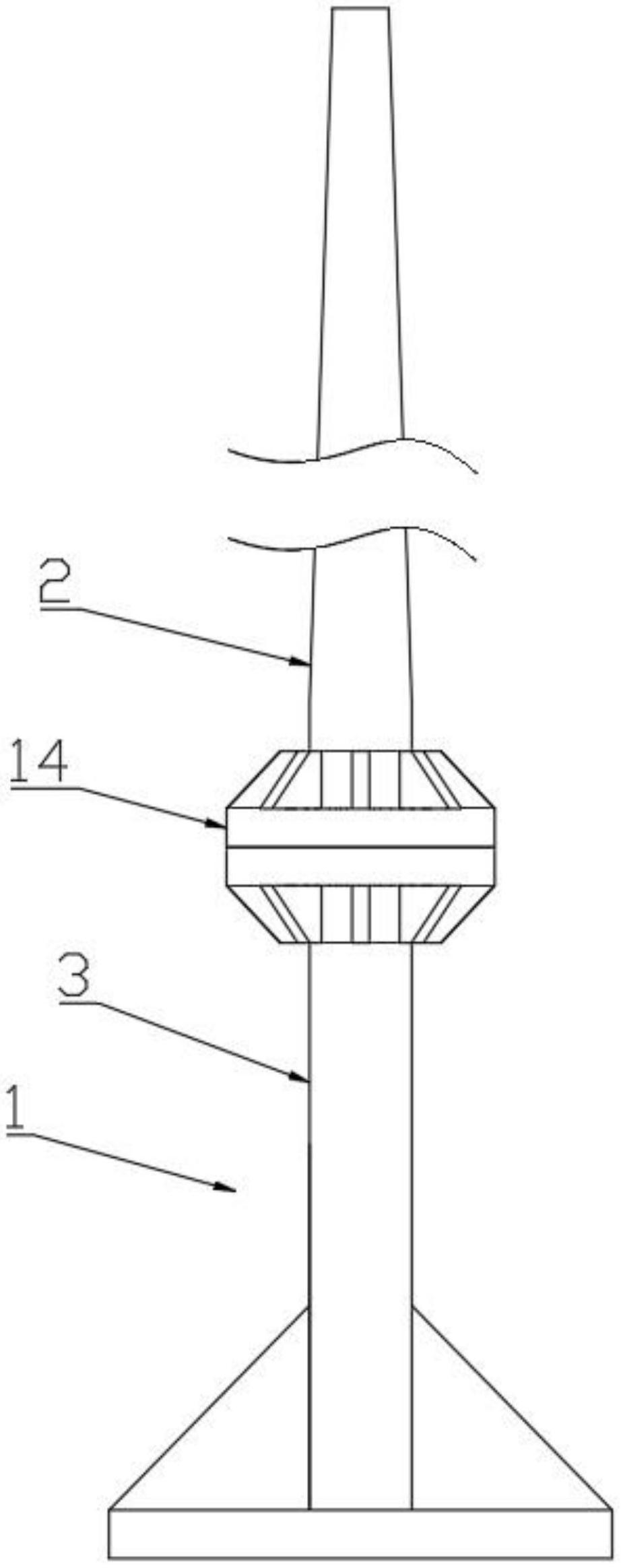 一种防晃动的风力发电架
