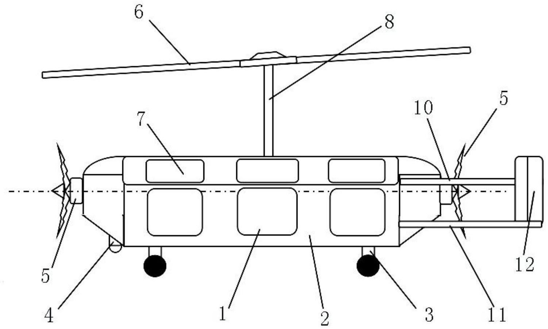 一种双发布局自旋翼机系统
