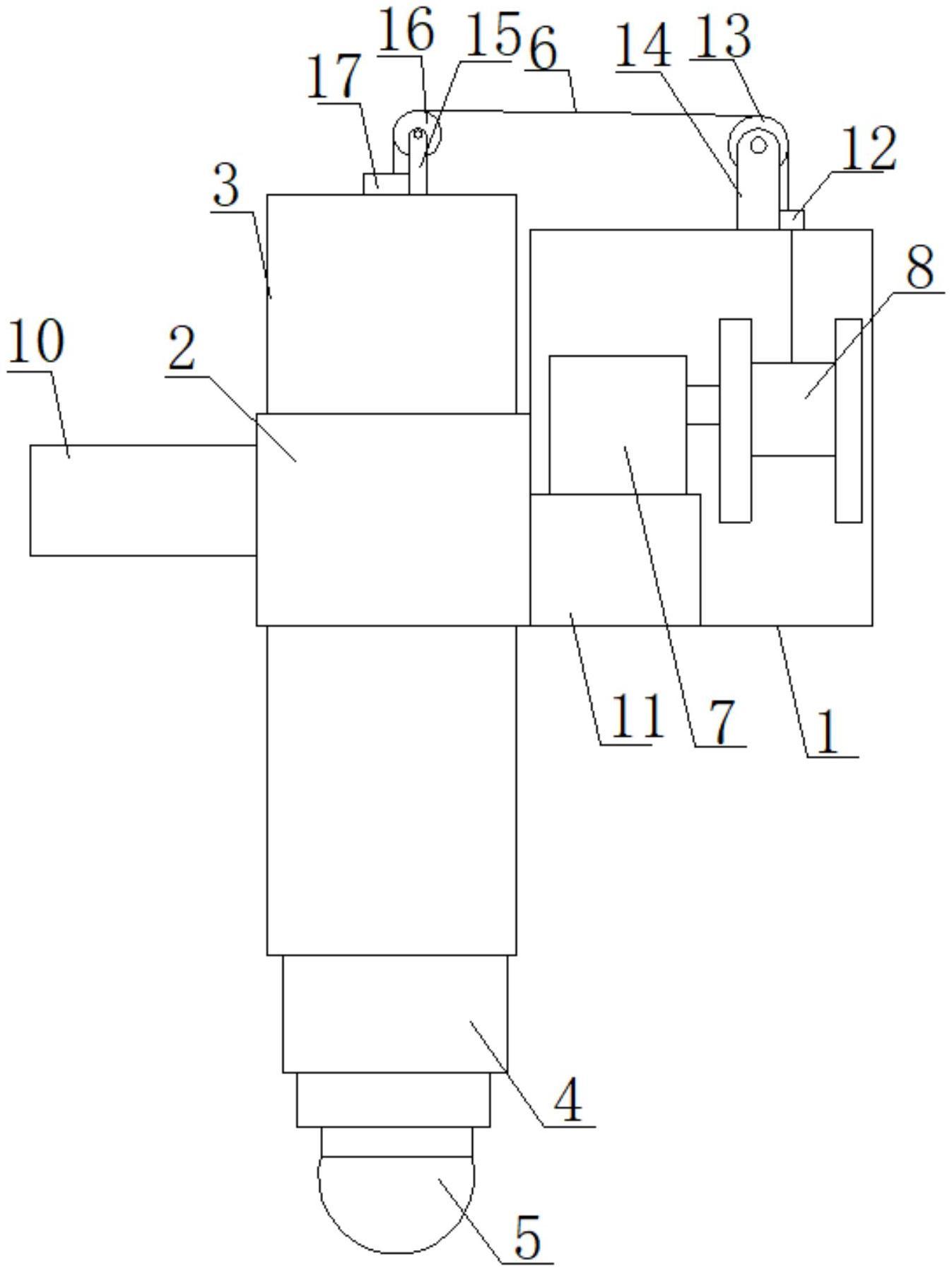 一种铝液炉内实时自动升降测温装置