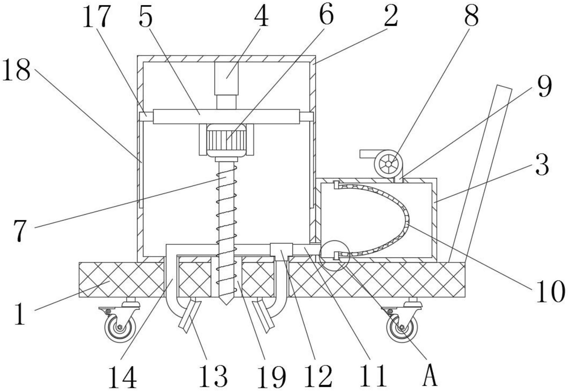 一种用于铁路道路施工打孔机