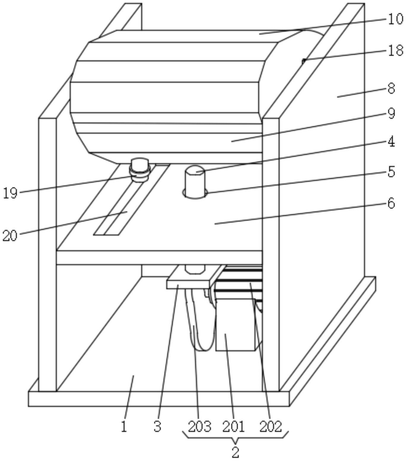 一种可翻转铸件的振动脱模机