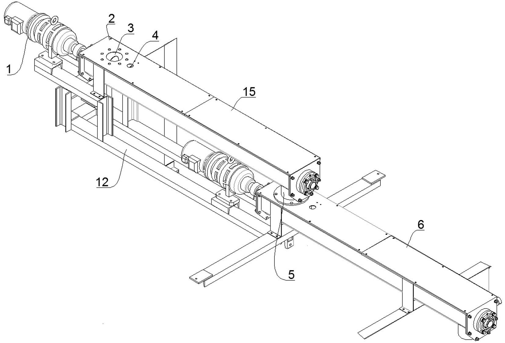 一种污泥处理用带式压滤机螺旋进料装置