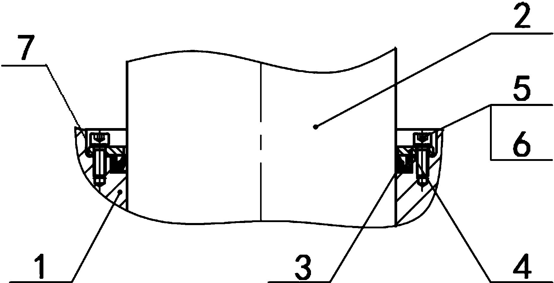 短应力线轧机辊系中下轴承座内嵌式双重密封结构